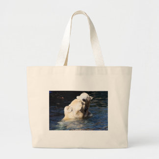 polar bears tote bags