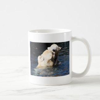 polar bears basic white mug