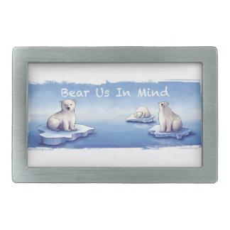 Polar Bears – Bear Us In Mind Rectangular Belt Buckles