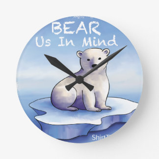 Polar Bears – Bear Us In Mind Round Clock