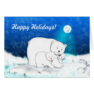 Polar Bears Being Cute Card