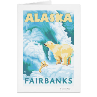 Polar Bears & Cub - Fairbanks, Alaska Card