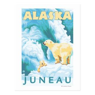 Polar Bears & Cub - Juneau, Alaska Postcard
