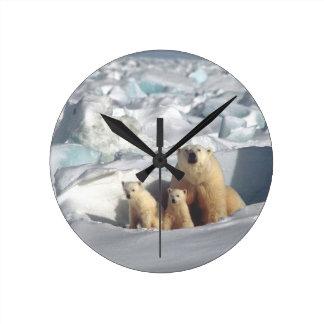 Polar Bears Cubs, Arctic Wildlife Nature Clock