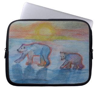 Polar Bears Drawing Electronics Bag