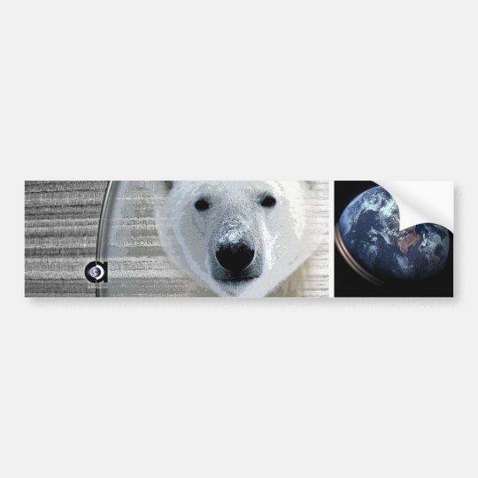 polar bears earth bumper sticker