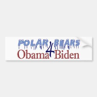 Polar Bears for Obama Biden 2008 Bumper Sticker