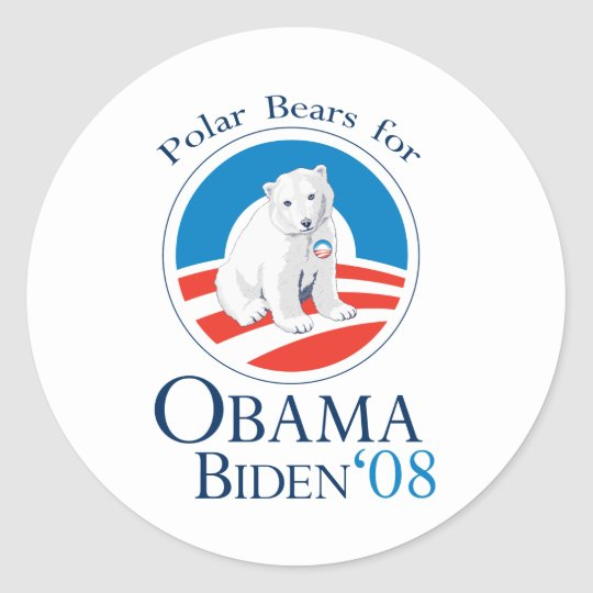 Polar Bears for Obama Sticker