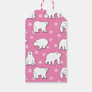 Polar Bears Girly Pink Gift Tag Pack Of Gift Tags