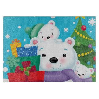 Polar Bears Glass Cutting Board