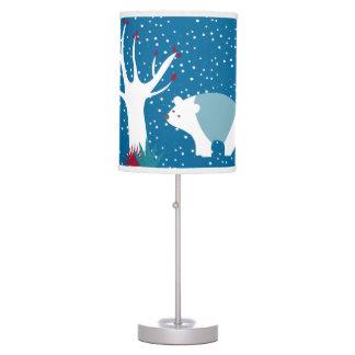 Polar Bears In The Snow Table Lamp