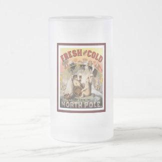 Polar Bears Lager 16 Oz Frosted Glass Beer Mug
