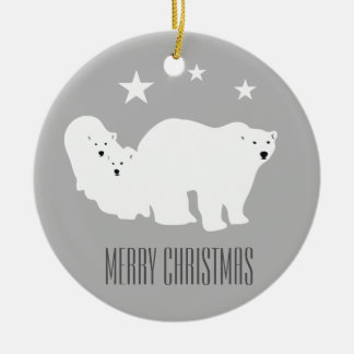 Polar Bears Merry Christmas Ornament Decoration