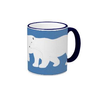 Polar Bears Ringer Coffee Mug