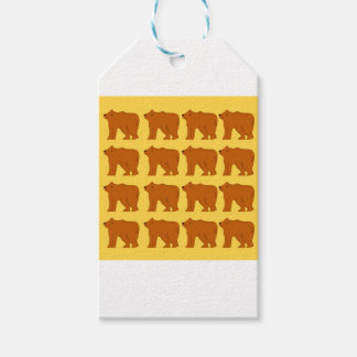 Polar bears on Gold Gift Tags