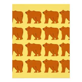 Polar bears on Gold Letterhead