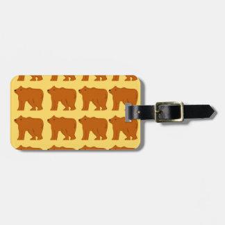 Polar bears on Gold Luggage Tag