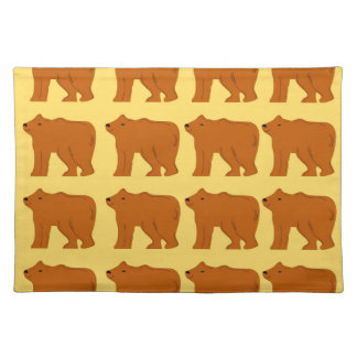 Polar bears on Gold Placemat