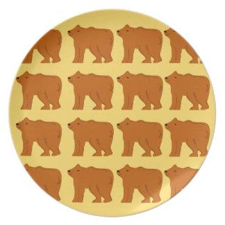 Polar bears on Gold Plate