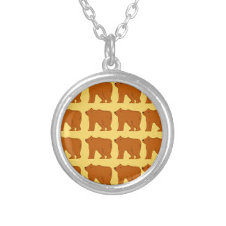 Polar bears on Gold Silver Plated Necklace