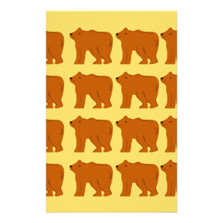 Polar bears on Gold Stationery