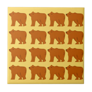 Polar bears on Gold Tile