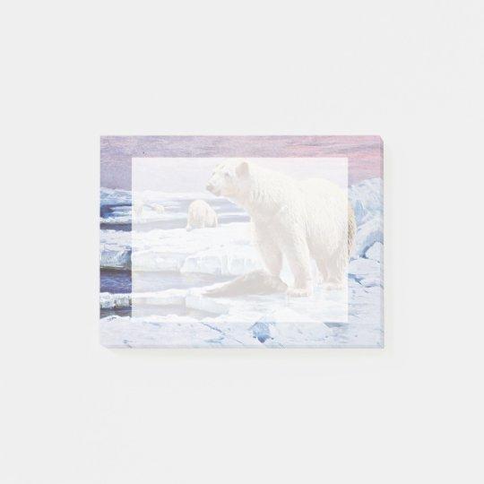 Polar Bears on Ice Floes Art Post-it® Notes
