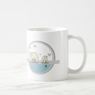 Polar bears- parents and child classic white coffee mug