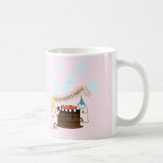 polar bear's party classic white coffee mug