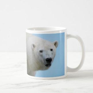 Polar bears profile classic white coffee mug