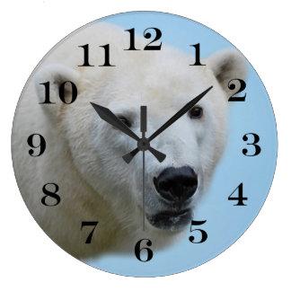 Polar bears profile large clock