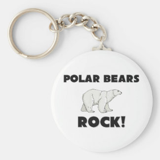 Polar Bears Rock Keychain
