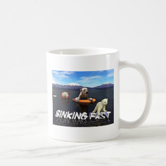 Polar Bears - Sinking Fast Basic White Mug