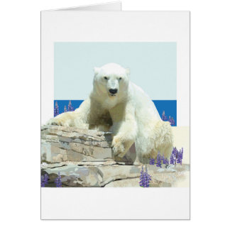 Polar Bear's Spring Greeting Card