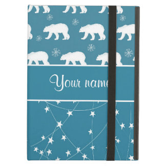 Polar Bears Twinkling Stars Personalized Case For iPad Air