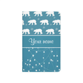 Polar Bears Twinkling Stars Personalized Journal