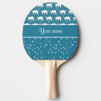 Polar Bears Twinkling Stars Personalized Ping Pong Paddle