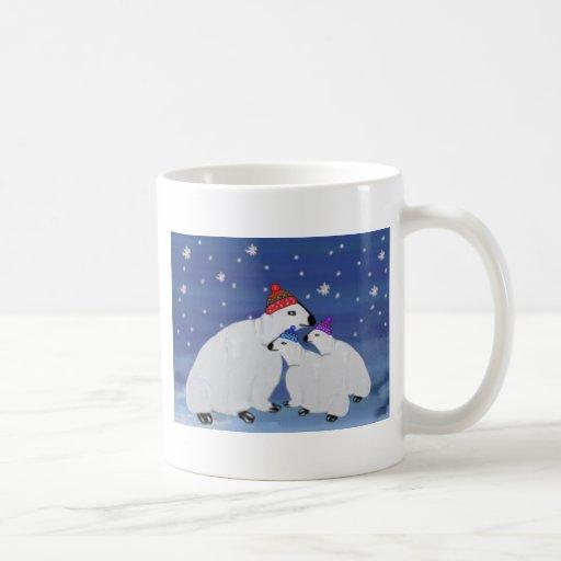 Polar Bears Winter  Mugs