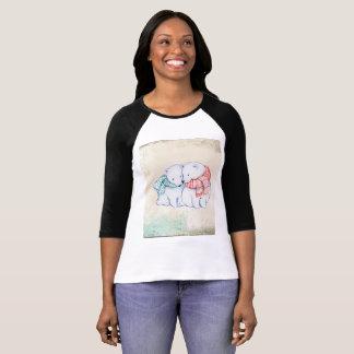 Polar Bears Women's Bella+Canvas 3/4 Sleeve Raglan T-Shirt
