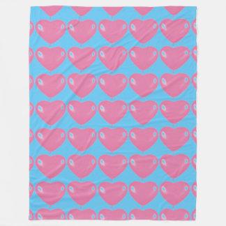 Polar cover collection heart fleece blanket