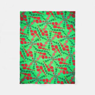 Polar cover Jimette Design of green and red Fleece Blanket