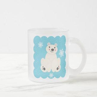Polar Friend Frosted Glass Coffee Mug
