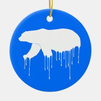 Polar Melt Down Ceramic Ornament