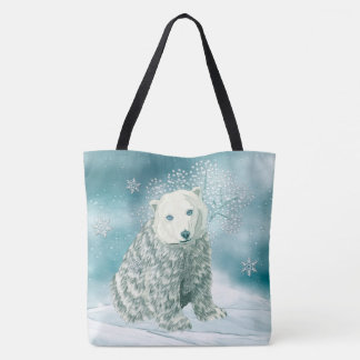 Polar North Alaskan Polar Bear Tote Bag