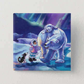 Polar Pals 2 Inch Square Button
