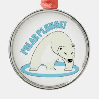 Polar Plunge! Metal Ornament