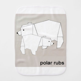 polar rubs burp cloth