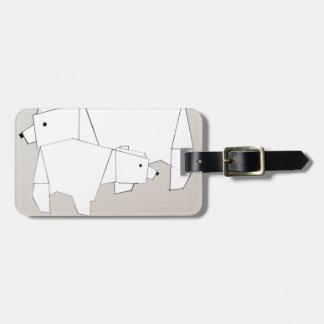 polar rubs luggage tag