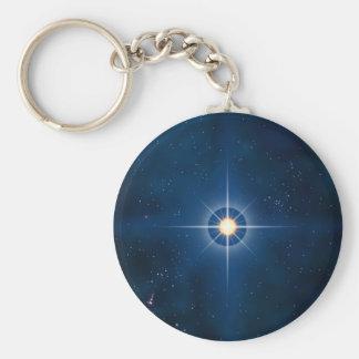 Polar Star Basic Round Button Keychain