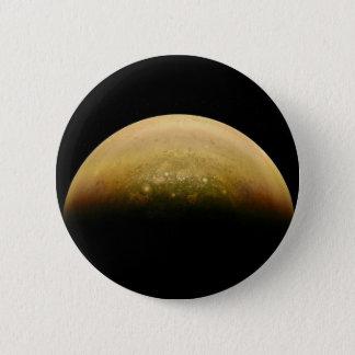 Polar View of jupiter 2 Inch Round Button